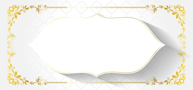 European decorative frame with abstract flowers