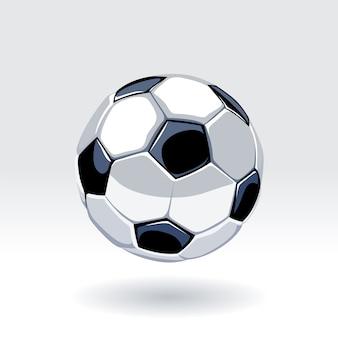 ヨーロッパのサッカーの古典的なボール。サッカーボールベクトルアート。