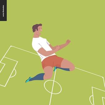 European football, soccer player