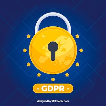Concetto europeo di gdpr con design piatto