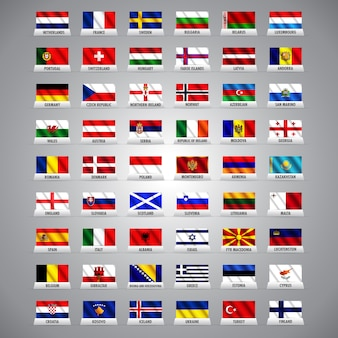 European nations and country flags