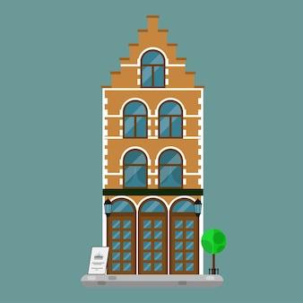 유럽의 오래된 타운 하우스