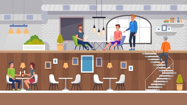 European restaurant interior
