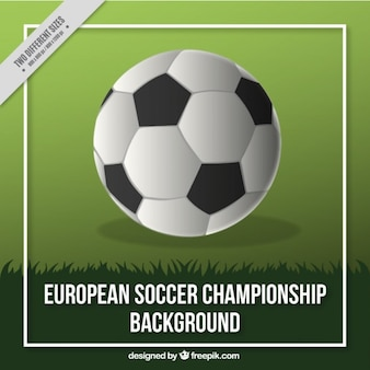 European soccer championship background with a ball