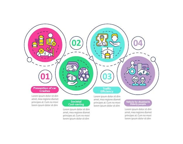 Ev 사회 보호 벡터 infographic 템플릿입니다.
