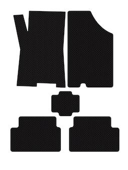 Eva black car mats vector