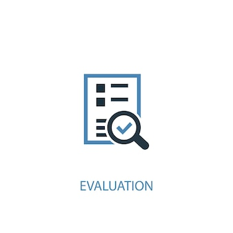 Evaluation concept 2 colored icon. simple blue element illustration. evaluation concept symbol design. can be used for web and mobile ui/ux