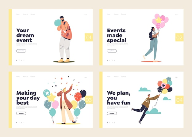 Event agency and celebration planning concept