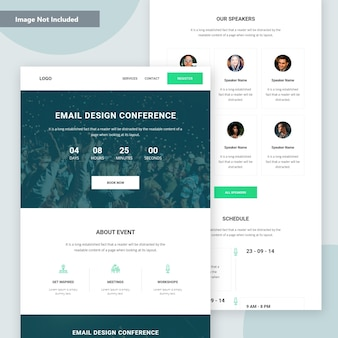 Event & conference landing page vector