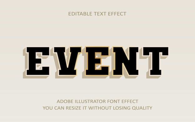 Event editable text effect