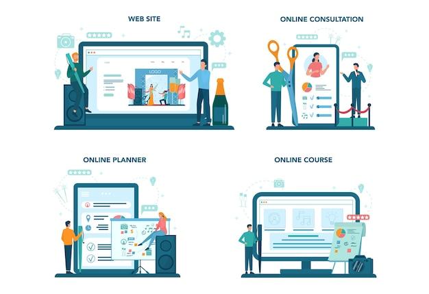 Event manager or service online service or platform set.
