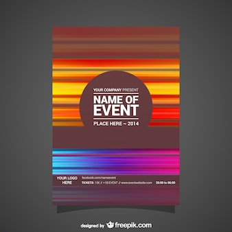 Event poster abstract editable design