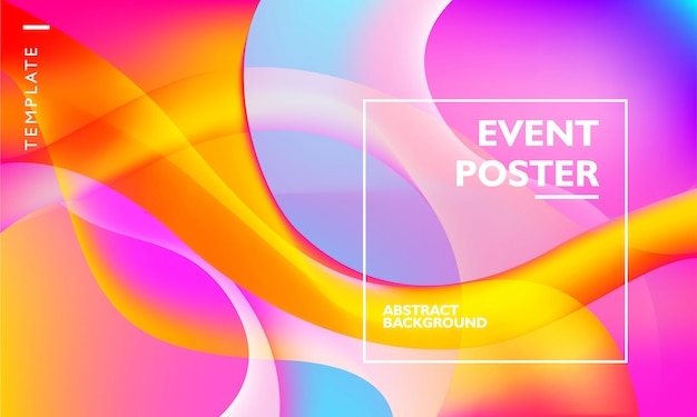 Event poster template with abstract background