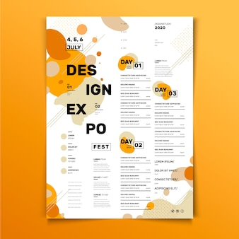 Event programming design poster template
