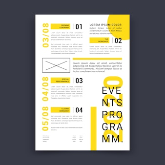Event programming poster template