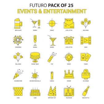 Events and entertainment icon set