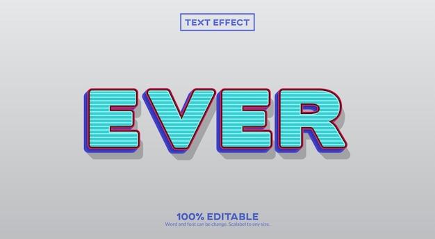 Когда-либо эффект 3d-текста