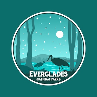 Стикер национального парка эверглейдс