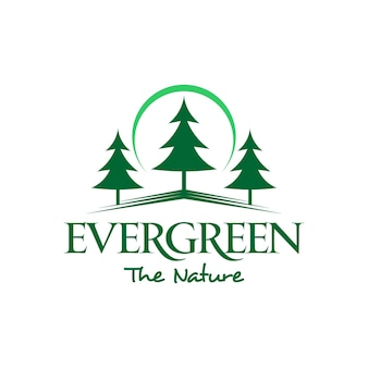 Evergreen pine tree logo простой зеленый
