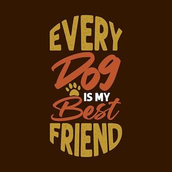 Каждая собака - мой лучший друг, красочная футболка с надписью и товары для собак