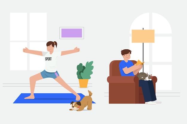 Ежедневные сцены с домашними животными