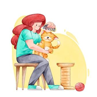 Scene quotidiane con animali domestici