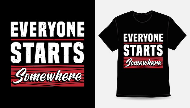 Каждый начинает с чего-то типографского дизайна футболки