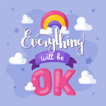 Everything will be ok lettering style
