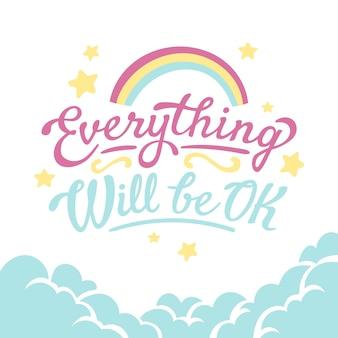 Andrà tutto bene scritte