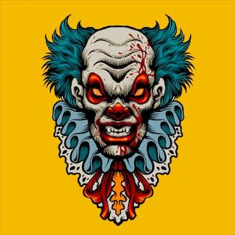 Evil clown terror