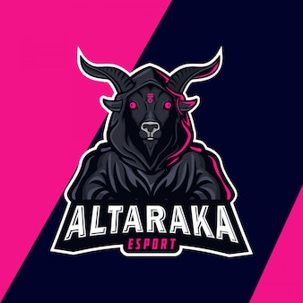 Evil demon mascot logo design