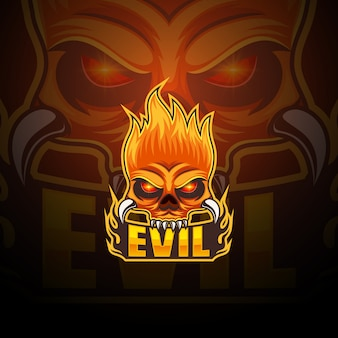 Evil esport mascot logo design
