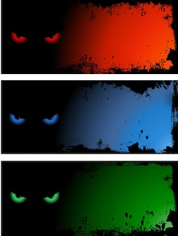 Evil eye grunge style backgrounds