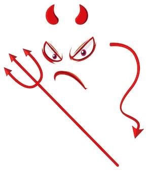 悪魔の要素を持つ邪悪な顔