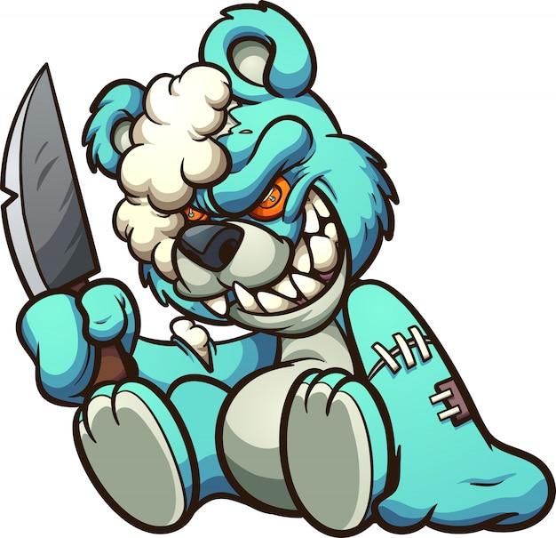 Evil  green teddybear