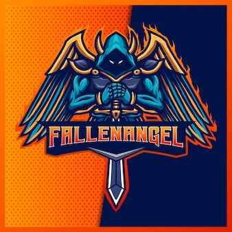 Злой рыцарь киберспорт и спортивный логотип талисмана
