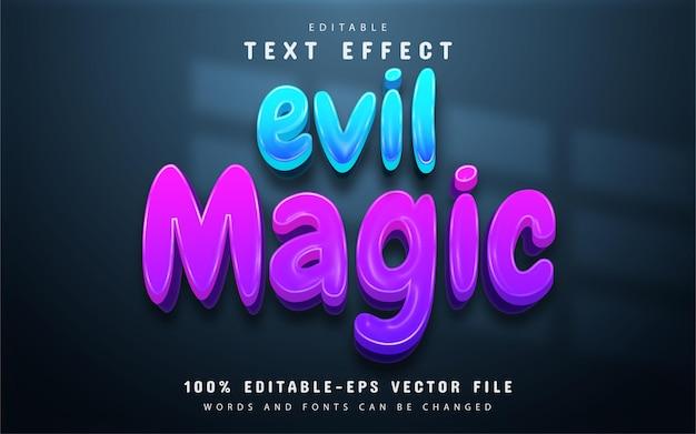 Evil magic text, editable text effect