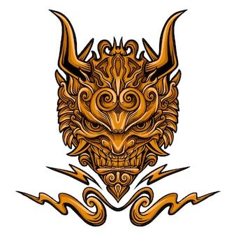 Evil mask vector