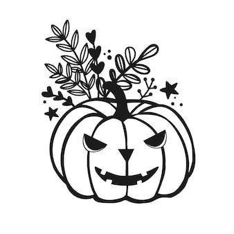 Злая тыква на хэллоуин векторный файл с осенней тыквой