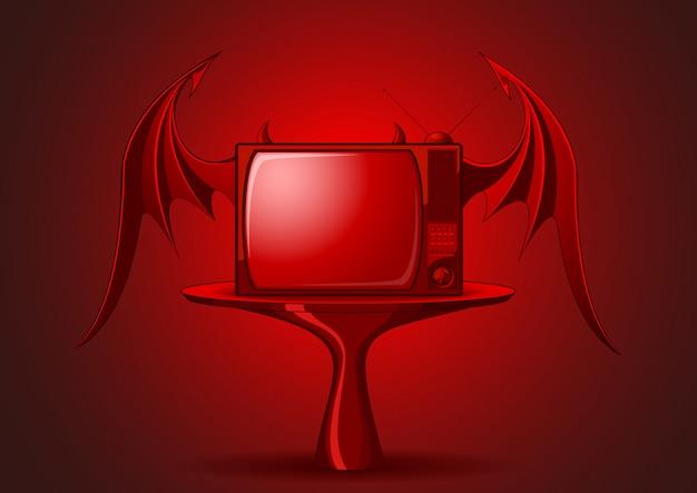 Evil retro tv