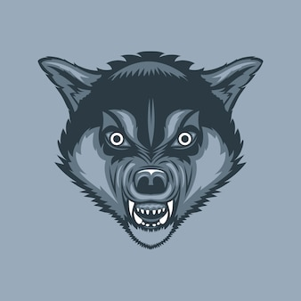 Evil and scary wolf