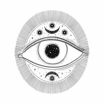 Злой видящий глаз символ.