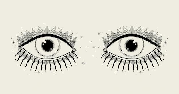 악한 보는 눈 상징.
