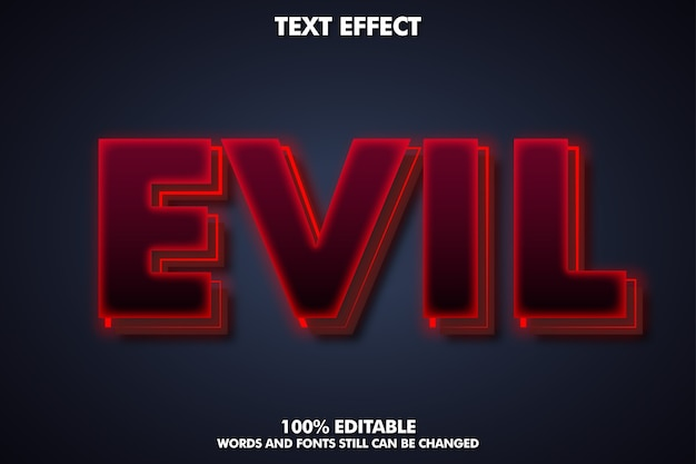 Evil text effect - creepy text style