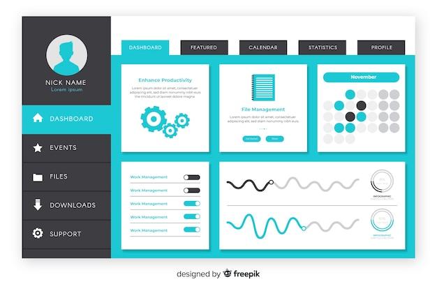 Evolution graphic dashboard template