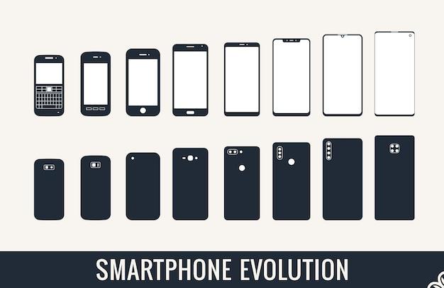 現代のスマートフォンの携帯電話セットの進化