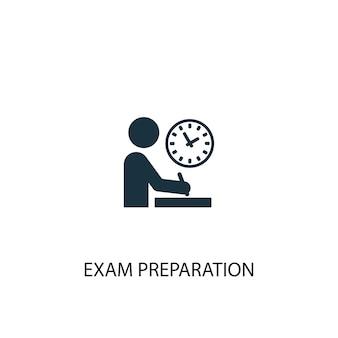 試験準備アイコン。シンプルな要素のイラスト。試験準備コンセプトシンボルデザイン。 webおよびモバイルに使用できます。