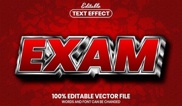Exam text, font style editable text effect
