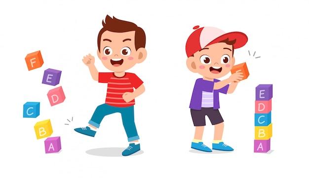 Example kid boy good and bad behavior