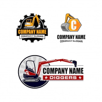 Excavation / digger logo collection